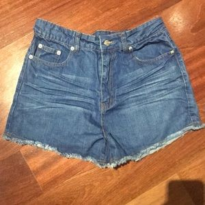Perfect condition Nasty Gal cutoff shorts
